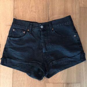 Brandy Melville high waisted black denim shorts